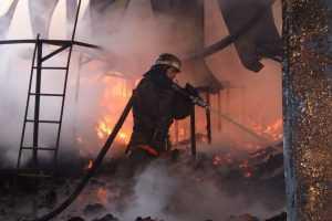 В Брянске потушили горевшие сараи