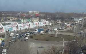 Гигантский затор образовался на Литейной улице Брянска