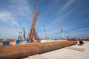 Строители крымского моста приступили к сооружению фундаментов