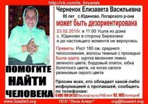 Найдено тело пропавшей 23 февраля брянской пенсионерки