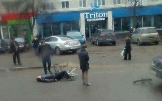В центре Брянска сбили велосипедиста