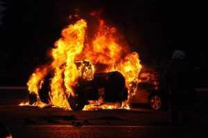В Брянске сгорела грузовая «Газель»
