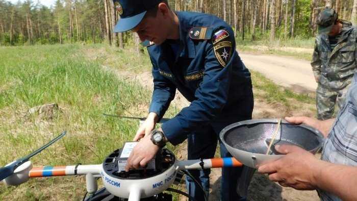 Над брянскими лесами запустили противопожарный беспилотник