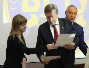 Виктор Гринкевич поздравил брянских финалистов конкурса социальных проектов