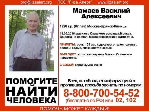 Начаты поиски пропавшего брянского старика