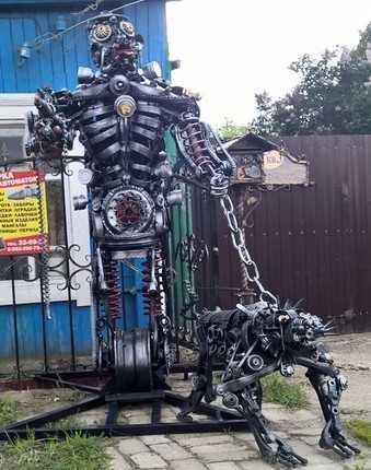 Брянский умелец сотворил роботов