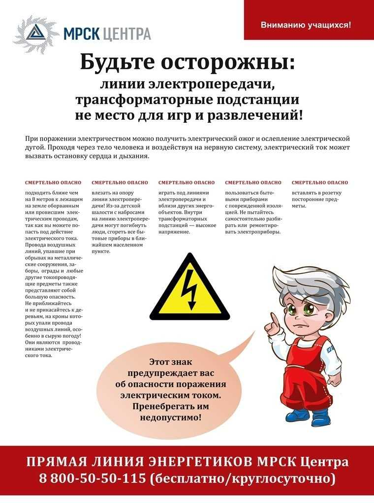 Брянские энергетики напомнили о безопасности детей