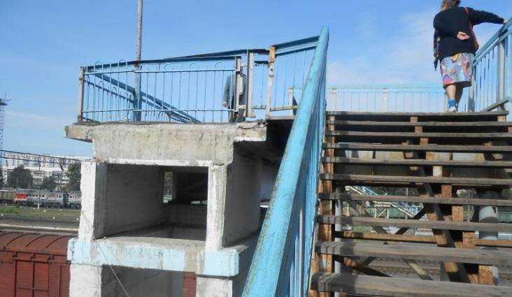 В Брянске железнодорожников заставили отремонтировать опасный мост