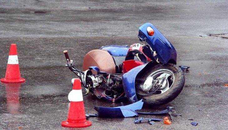 На брянской трассе разбился пьяный подросток-мопедист