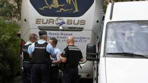 Французы отправили брянский автобус с болельщиками в жандармерию