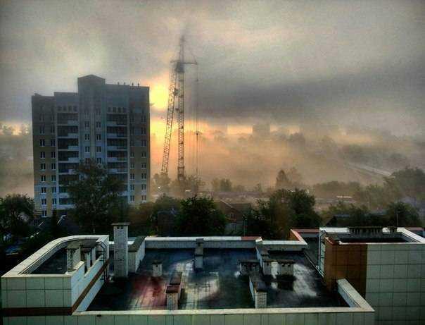 Брянск утонул в тумане