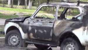 В брянском пригороде сгорела «Нива»