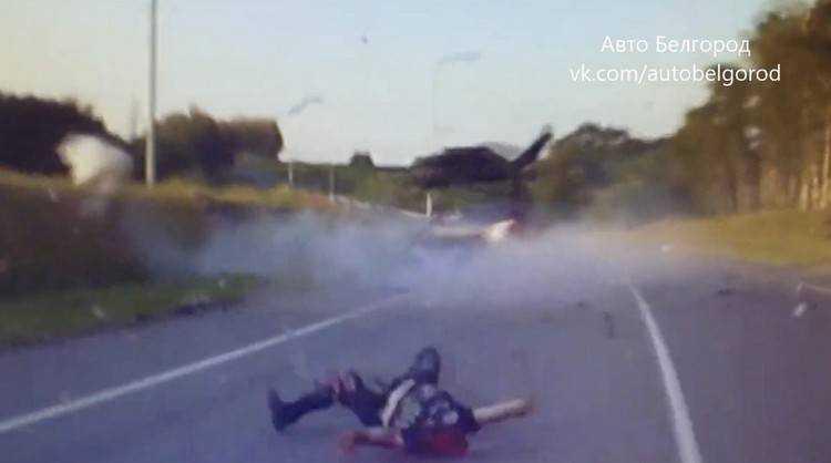 В страшной аварии байкеру оторвало голову