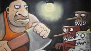 Задержан брянец, прикончивший топором 77-летнего старика