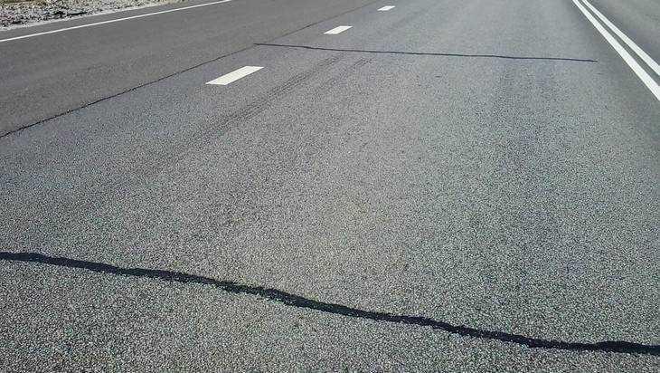 Брянский участок трассы «Украина» после ремонта уже разрушился