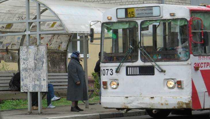 Брянская пенсионерка разбила голову в троллейбусе