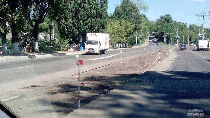 В Брянске начали расширять улицу Калинина
