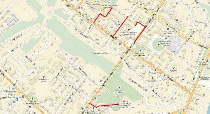 Власти Брянска ограничат движение транспорта в центре города