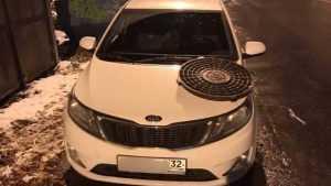Брянского водителя за стоянку на тротуаре наказали люком