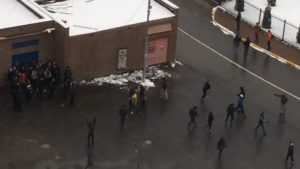 Появилось видезапись драки брянских фанатов в Подмосковье