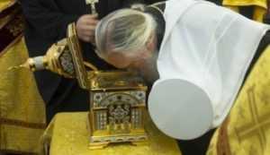 В Брянск принесен ковчег с частицей мощей святителя Пантелеимона