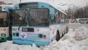 Брянский троллейбус едва не скатился в Верхний Судок