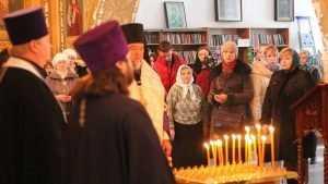 Брянцы помолились о жертвах крушения Ту-154