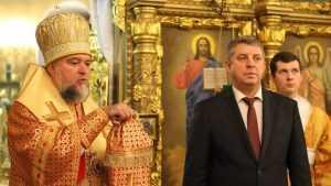 Брянский губернатор отпраздновал Рождество в клинцовском храме