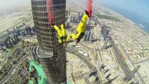 В сети опубликовали видео прыжка с самого высокого здания в мире