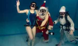 В Брянске клуб «Скат» и Дед Мороз встретили Новый год под водой