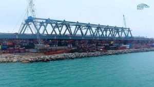 Начата сборка сводов арок Крымского моста