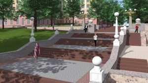 Брянцам предложили варианты обновления лестницы бульвара Гагарина