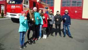 Брянские школьники побывали в гостях у огнеборцев