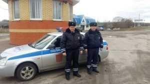 Брянские полицейские спасли провалившегося под лед ребенка