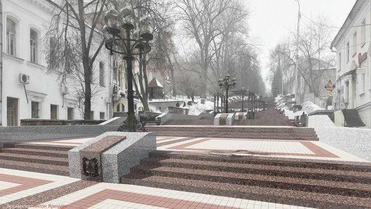 В Брянске представлен интересный проект лестницы на бульваре Гагарина