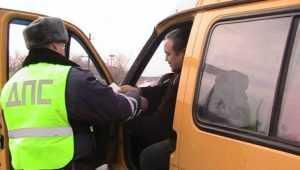 В Брянске гаишники поймали пьяного водителя маршрутки