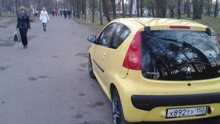 «Майский» парк Брянска превратили в автостоянку