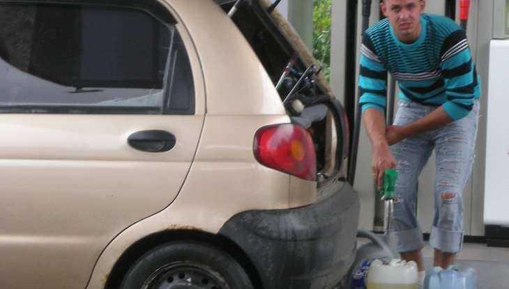 В Брянске около заправки «Нефтика» подожгли траву