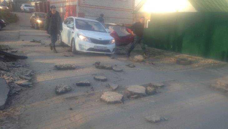 В Брянске отчаянный борец с автомобилями заминировал дорогу на улице Некрасова