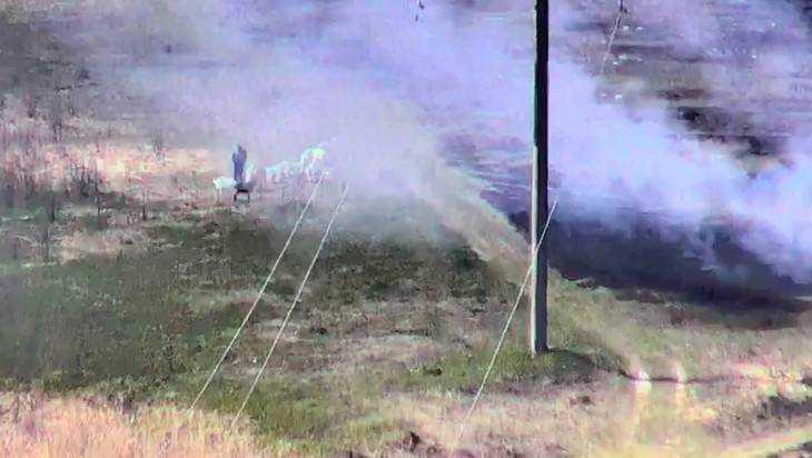 Снято видео тайного брянского поджигателя