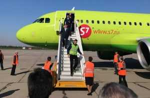 Аэропорт Брянска принял первый в этом сезоне самолет из Санкт-Петербурга