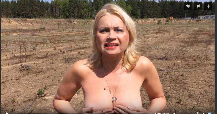 Обнаженная актриса своим видео призвала запретить свалку под Брянском