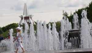 В Брянске фонтан на Кургане ароматизировали пеной для ванны