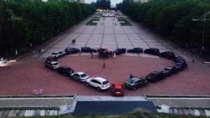 В Брянске молодоженам подарили автомобильное сердце у Кургана