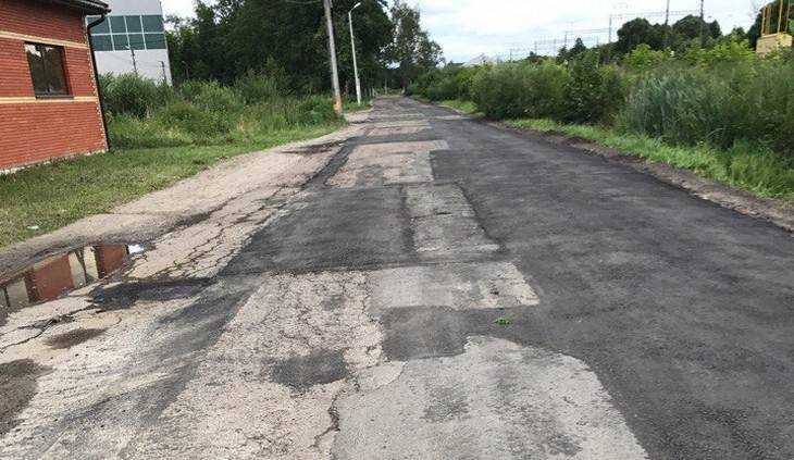 Брянцев изумил шашечный ремонт дороги в поселке Белые Берега