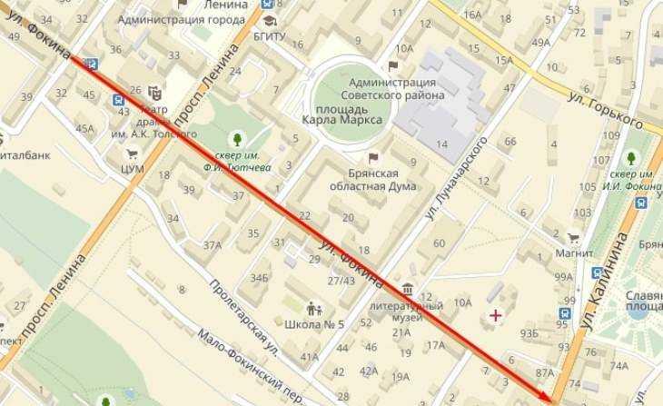 Брянцев предупредили о пробках на улице Фокина до конца июля
