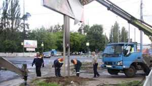 Проспект Московский в Брянске очистят от незаконной рекламы