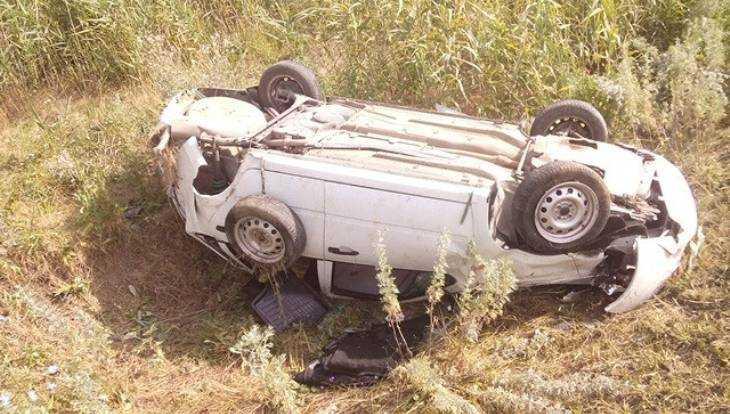 На брянской трассе погиб 35-летний водитель перевернувшейся «Лады»