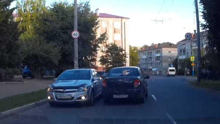 В Брянске сняли видео изумительной езды водителя по встречной полосе
