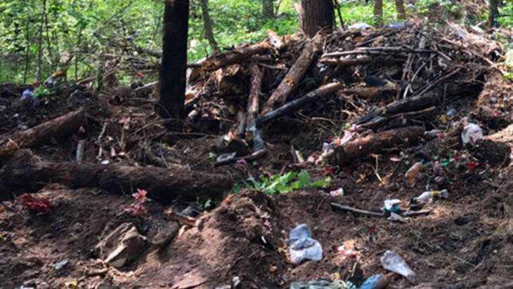 С брянского кладбища вывезли 56 грузовиков мусора